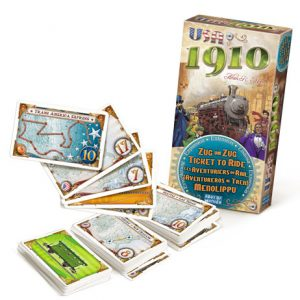 Ticket to Ride: 1910 Expansion contents