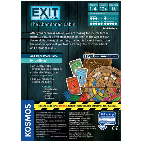 Exit: The Abandoned Cabin back
