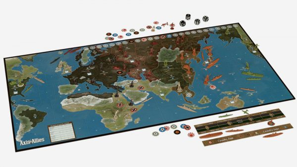 Axis & Allies 1941 game board