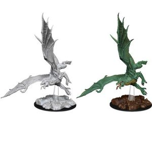 D&D Nolzur's Unpainted Miniatures Young Green Dragon
