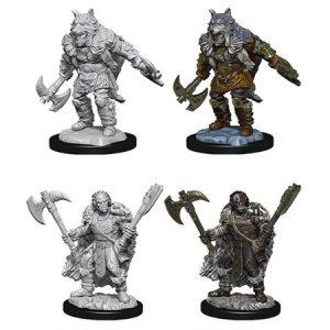 D&D Nolzur's Unpainted Miniatures Half-Orc Male Barbarian