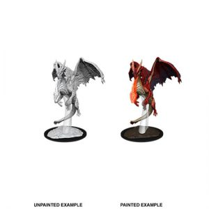 D&D Nolzur's Unpainted Miniatures Young Red Dragon